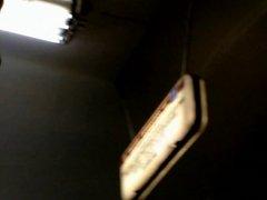 Upskirt White Panties On Metro Escalator