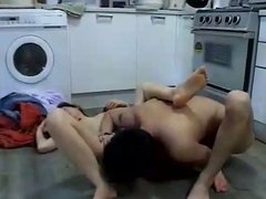 Asian Girl Fucked in Laundry Room