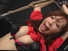 Tied Asian Teen Toyed In Her Ass And Pussy
