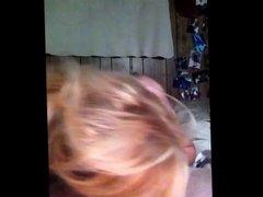Sexy Blonde Deepthroats Cock and Receives Facial
