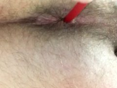 Teen Anal Testing, Anal Plug small, long rubber in Ass, BDSM