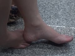Candid Sexy Asians Feet and Legs at Airport