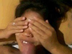 Cute Pinay taking a facial