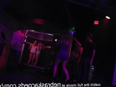 hot and slutty club girls wet tshirt shower contest in ybor