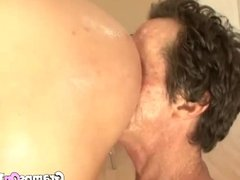 Cute Brunette Teen Gets Gramps Fuck Her From The Rear