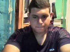 Straight guys feet on webcam #21
