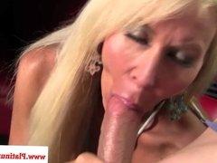 Mature blonde Erica Lauren loves cock
