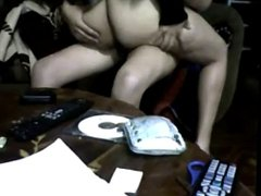 Latin couple on webcam