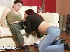 Tgirl pumps a stud