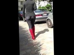 Hot Asian in Leggings in Slo Mo 2