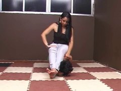 Beautiful Brazilian Goddess Playing With Her PET SLAVE GIRL