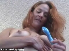 Busty Gabriella masturbates her pussy using her toy and fing