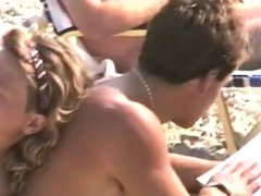 Beach candid topless from 1990