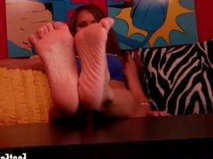 Worship your mistress's feet like a good slave
