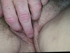 fingering the wifes pussy & the fucking phone interrupts