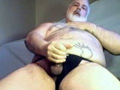 Daddy Bear stroking it