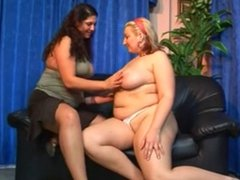 Hot plumper lesbians fucking each other