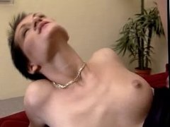Horny German Slut Takes on 2 Hard Cocks