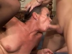 Hairy Granny Gets Both Holes Drilled