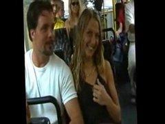 slut flashing in a bus