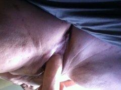 bbw wife masturbating till orgasm with huge dildo
