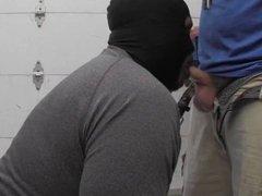Big Tall Black Swallow White Bear Cum in Work Truck
