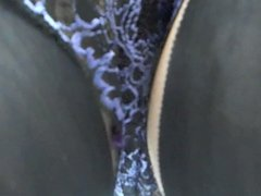 Purple Satin French Knickers