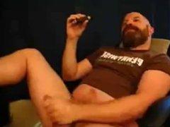 Dady Bear Enjoys A Cigar The Right Way