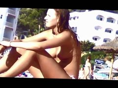young german teen topless on mallorca beach