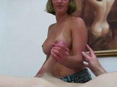 White Girl Hand Job