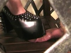 Black Spike Heels Crush Movie