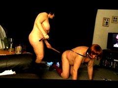 sissy hubby spanked by femdom wife