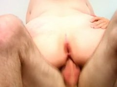 Mature fatty likes it in pussy and ass