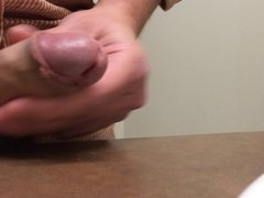 Small cock oozing thick, sperm load