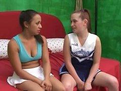 Lesbian cheerleaders dildoing