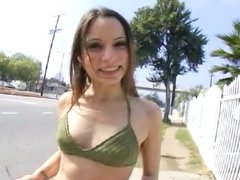 Cute Girl Gets Facial And Walks In Public