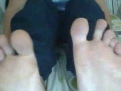 Straight guys feet on webcam #88