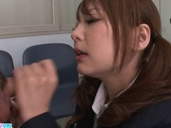 Schoolgirl Miku Airi Blasted In The Mouth With Jizz