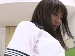 Teen Twat On Aika Hoshino Gets Creampied