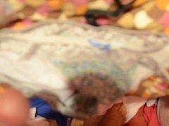 19 yr old - 2 pairs of lacey undies get sprayed