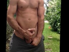 Stroking in Front Yard
