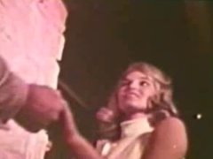 Vintage blonde in strip dance