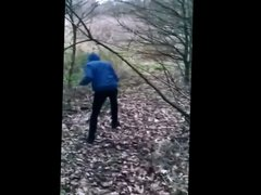 dude fucks black ass in the woods