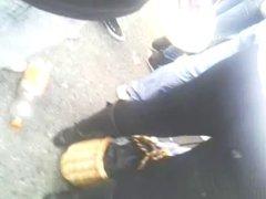 culo con botas