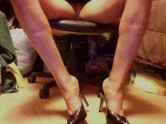 High heels upskirt pose 1
