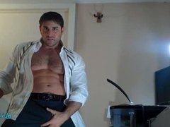 Strong Muscular Hairy Stud Shoots cum in your face!