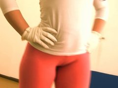 Big Booty Teen With Tiny Waist! Puffy Cameltoe! Tight Pants!
