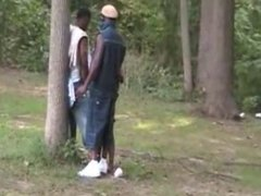 Black whores orgy in the park.