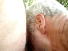 Public Dad blowjob
