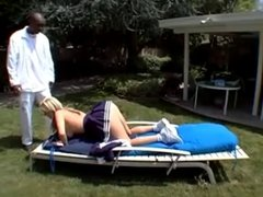 Anal Teen Sophie With Big Ass VS BIG BLACK COCK